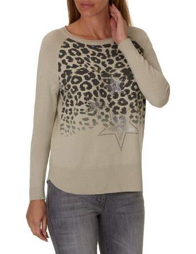 Betty Barclay Knitted Sweaters With Placed Leo Print