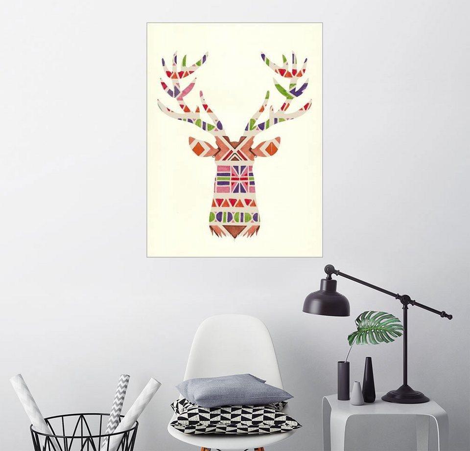 posterlounge wandbild nory glory prints hirsch im ethno look online kaufen otto. Black Bedroom Furniture Sets. Home Design Ideas