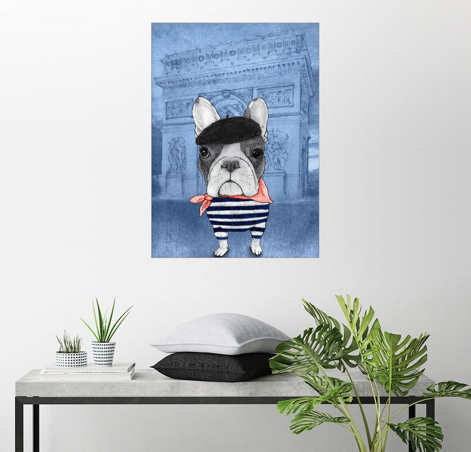 posterlounge wandbild barruf frenchie mit arc de triomphe online kaufen otto. Black Bedroom Furniture Sets. Home Design Ideas