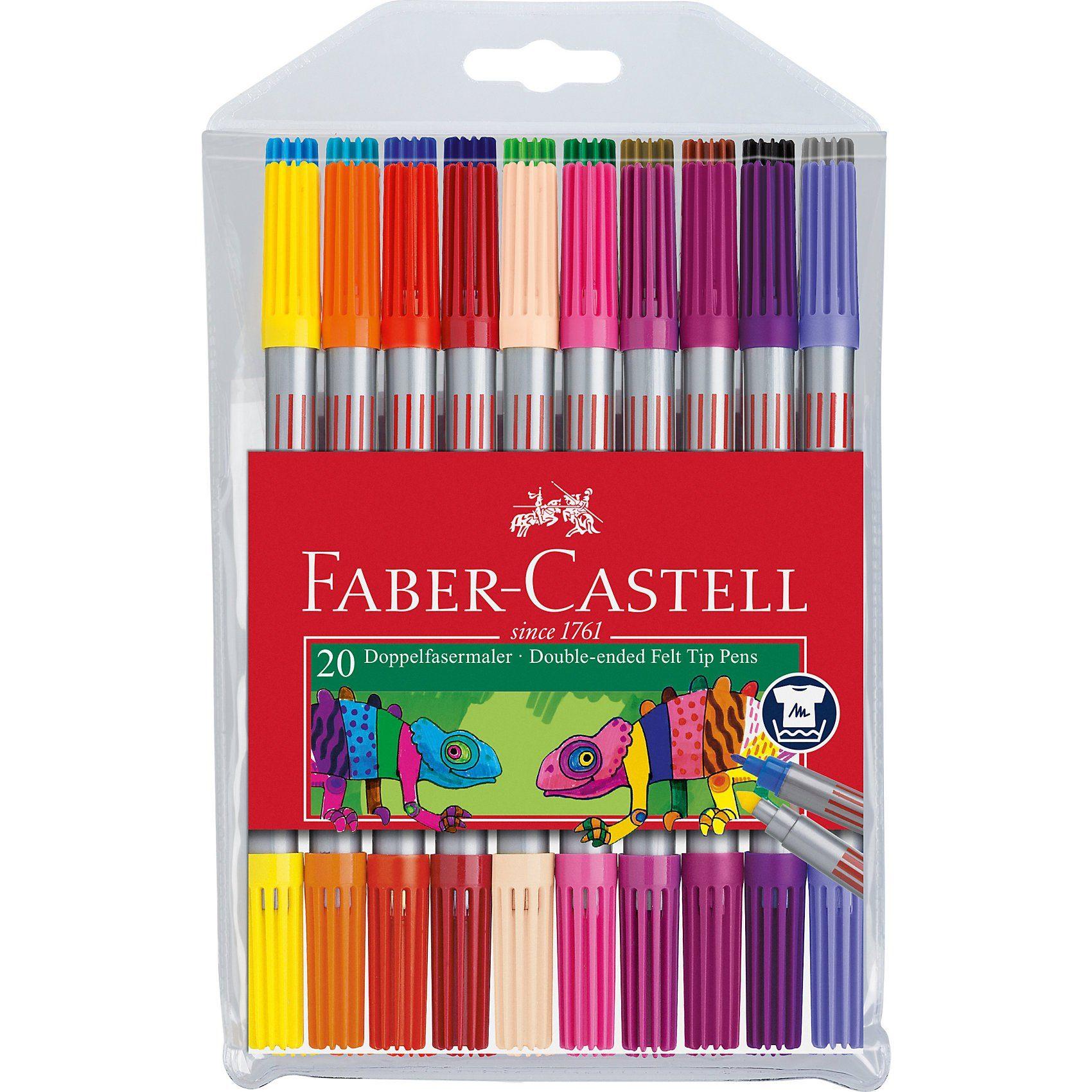 Faber-Castell Doppelfilzstifte, 20 Farben