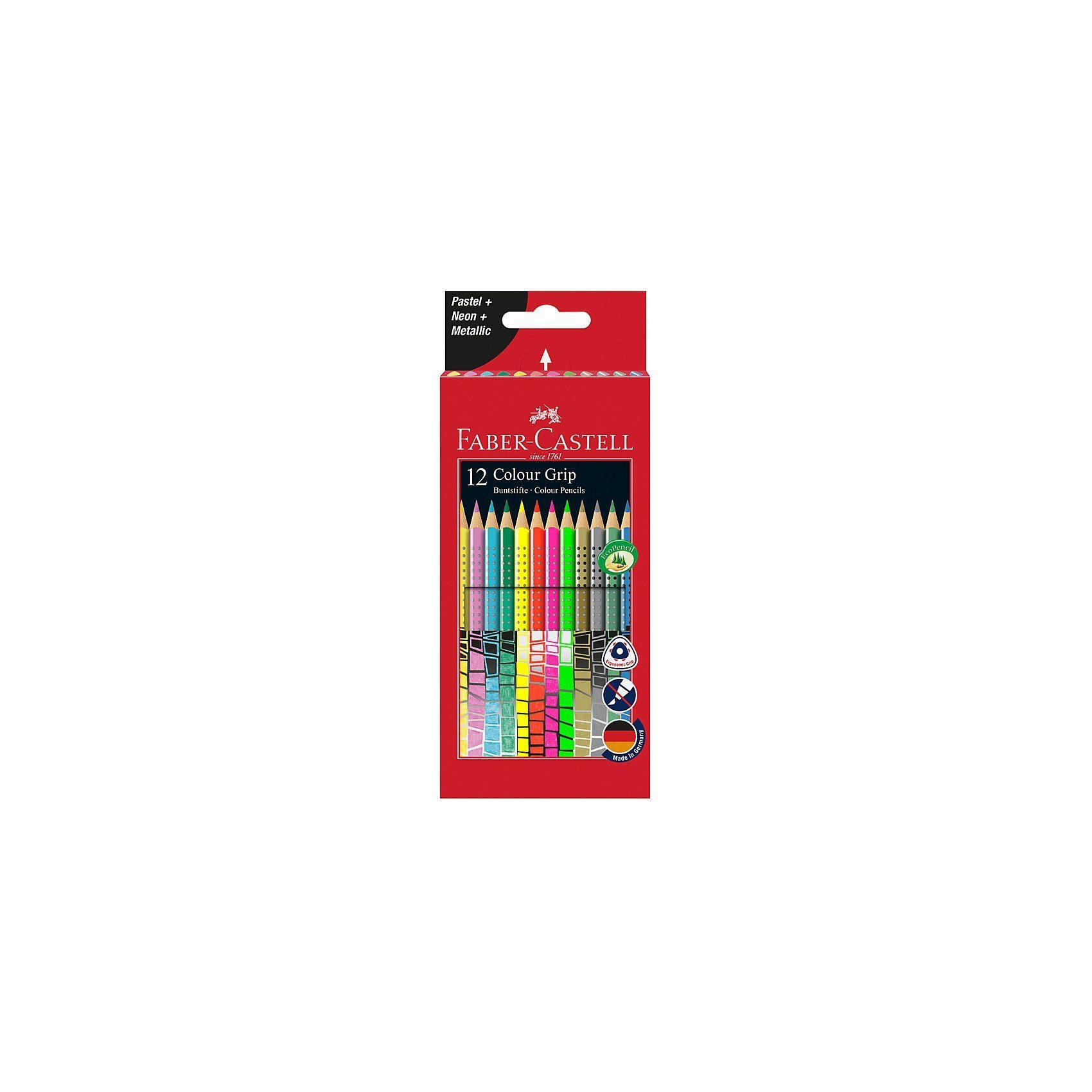 Faber-Castell Colour Grip Sonderfarbset, 12 Farben
