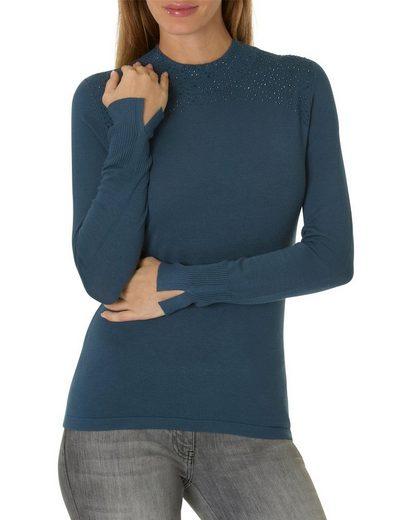 Betty Barclay Shirt mit Strasssteinen und Stehkragen