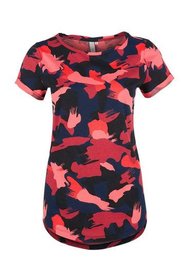 Q/S designed by T-Shirt im Camouflage-Design