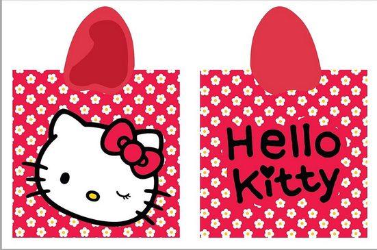 Badeponcho »Poncho Badeponcho Hello Kitty 100% Baumwolle Größe: 60 x 120 cm«, Häßler Homefashion, mit Kapuze