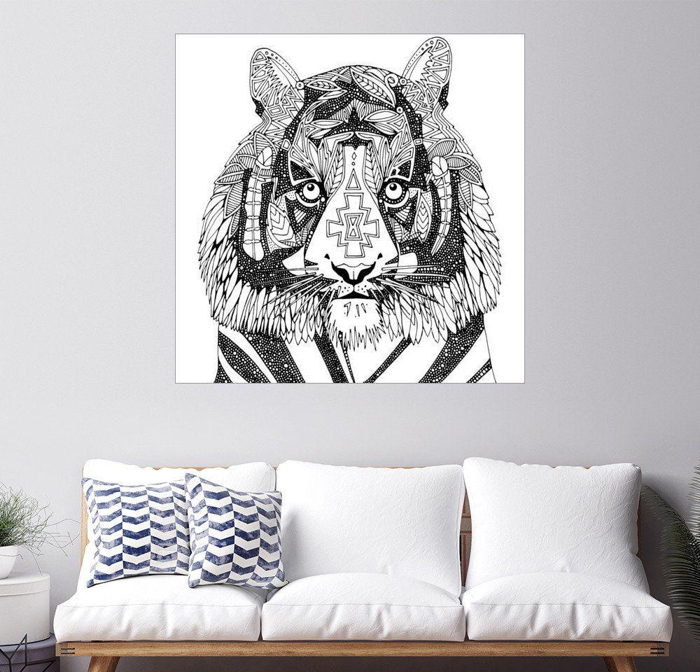 Posterlounge Wandbild - Sharon Turner »Tiger im Fokus«