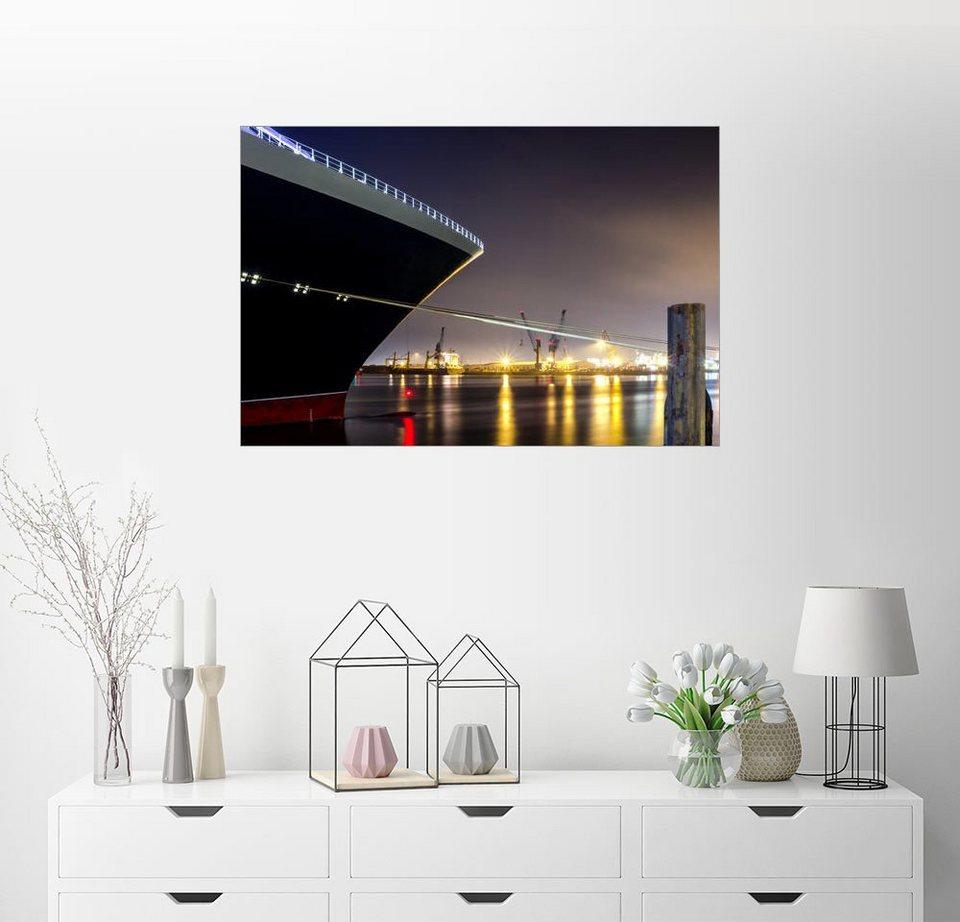posterlounge wandbild ein gro es kreuzfahrtschiff im. Black Bedroom Furniture Sets. Home Design Ideas