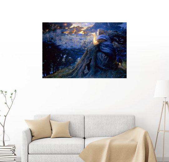 Posterlounge Wandbild - Edward Robert Hughes »Dämmerungs-Fantasie«