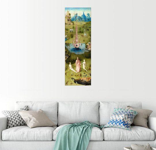 Posterlounge Wandbild - Hieronymus Bosch »Garten der Lüste, das Paradies«
