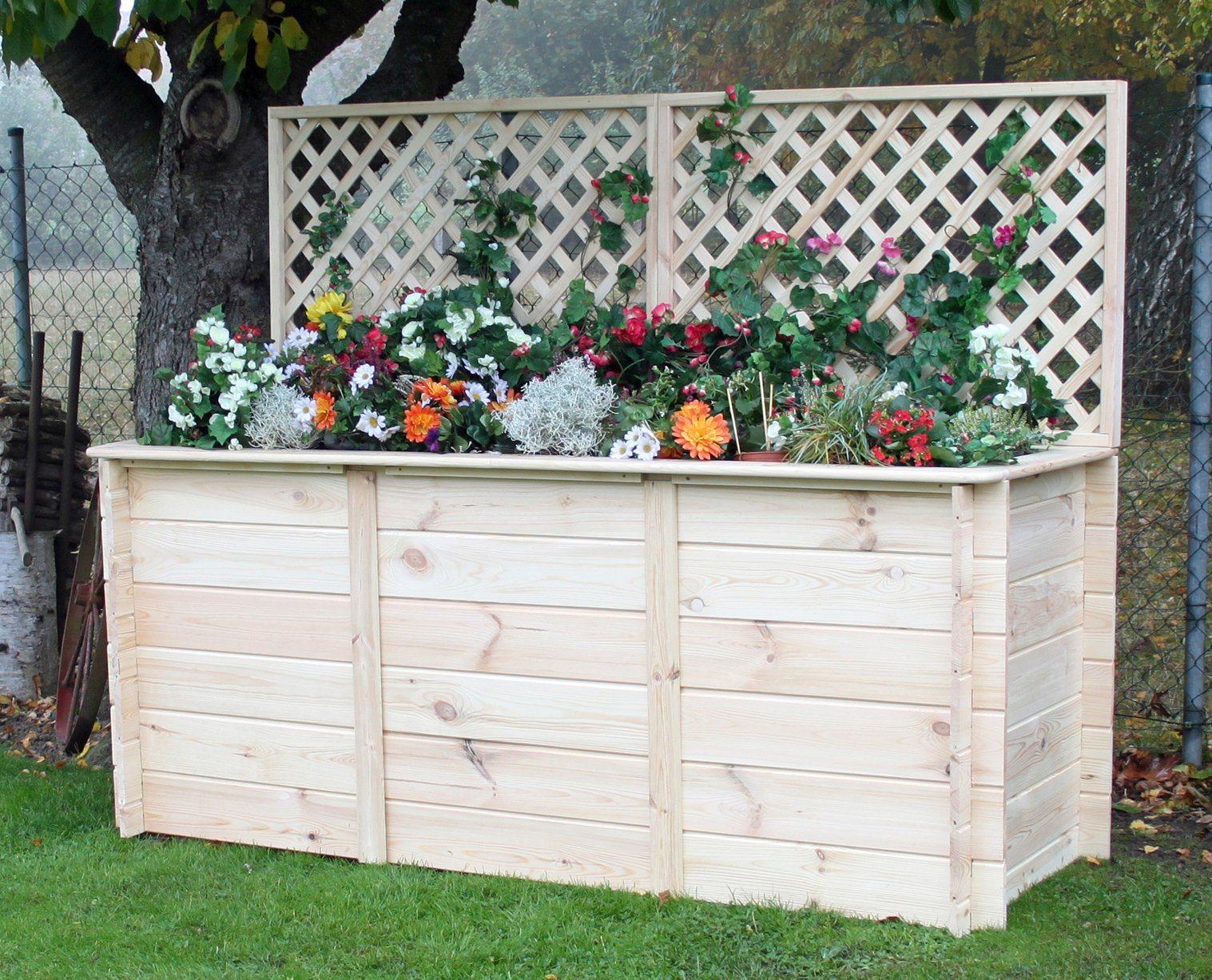 PROMADINO Hochbeet , BxTxH: 200x80x130 cm, mit Rankgitteraufsatz | Garten > Pflanzen > Pflanzkästen | promadino