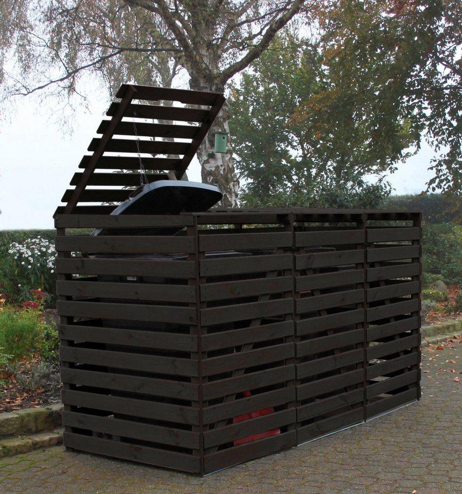 promadino mülltonnenbox »vario v«, für 3 x 240 l, anthrazit online