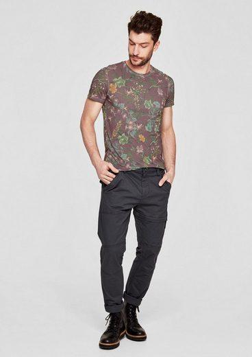 s.Oliver RED LABEL Slim: T-Shirt mit Allover-Print