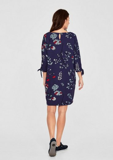 s.Oliver RED LABEL Crêpe-Kleid mit Flower-Print