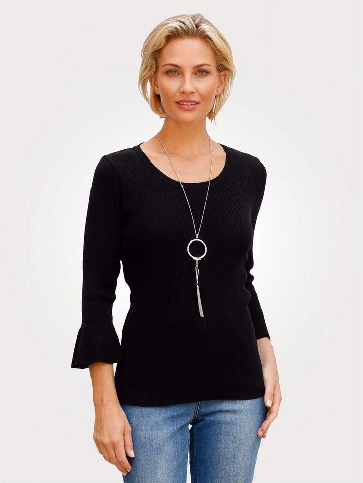 Damen Mona Pullover aus feiner Viskose-Qualität schwarz   04055716177160