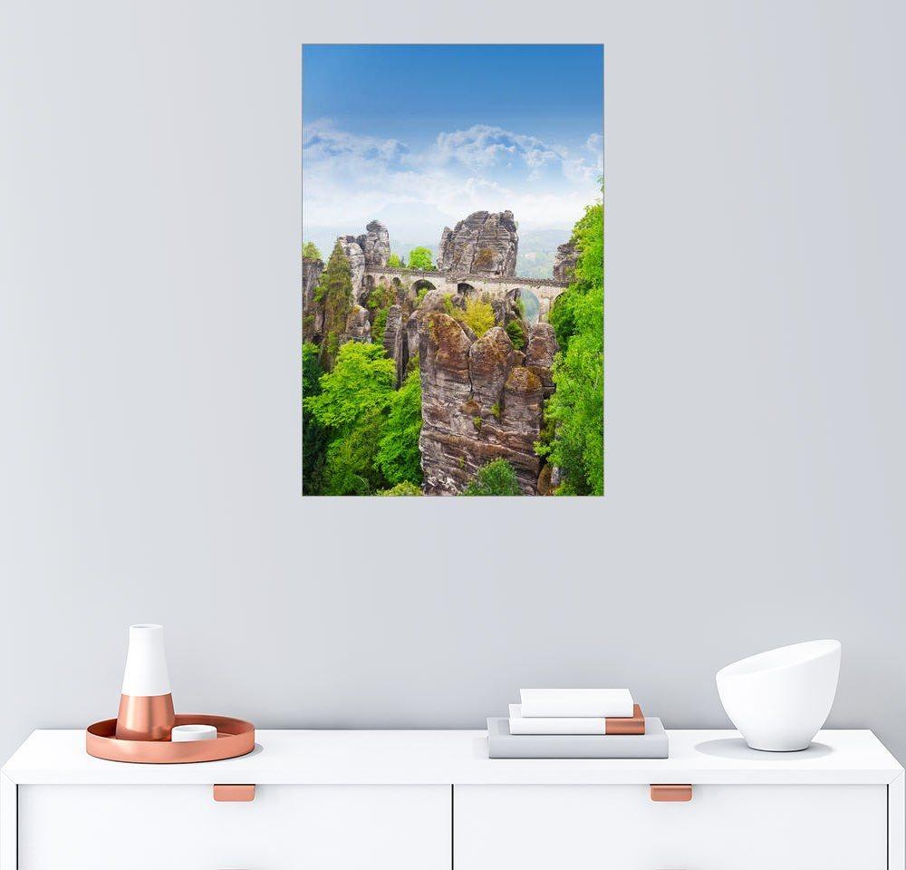 Schon Posterlounge Wandbild »Basteibrücke, Sächsische Schweiz«