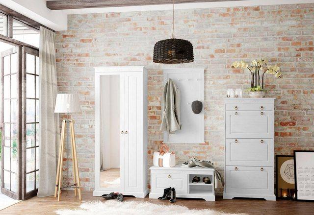 Garderoben Sets - Home affaire Garderoben Set »Sofia«, (Set, 4 St), aus massiver Kiefer  - Onlineshop OTTO