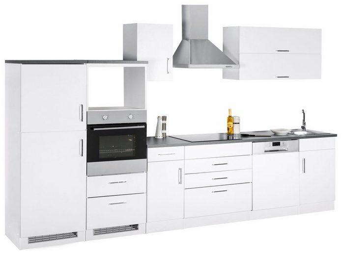 Küchenzeile »Graz«, ohne E-Geräte, Breite 350 cm