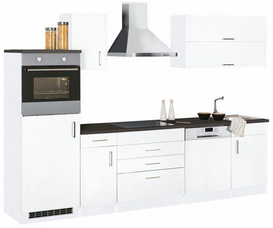 Küchenzeile »Graz«, mit E-Geräten, Breite 290 cm