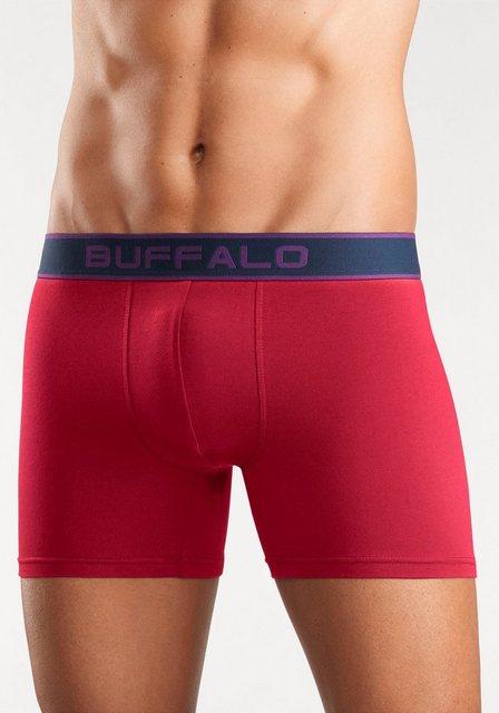 Herren Buffalo Boxer lang (3 Stück) mit Logo Webbund bunt,mehrfarbig | 04893962468492