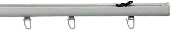 Gardinenschiene »Schleuderschiene 400, für verdeckte Montage«, GARESA, 1-läufig, Wunschmaßlänge