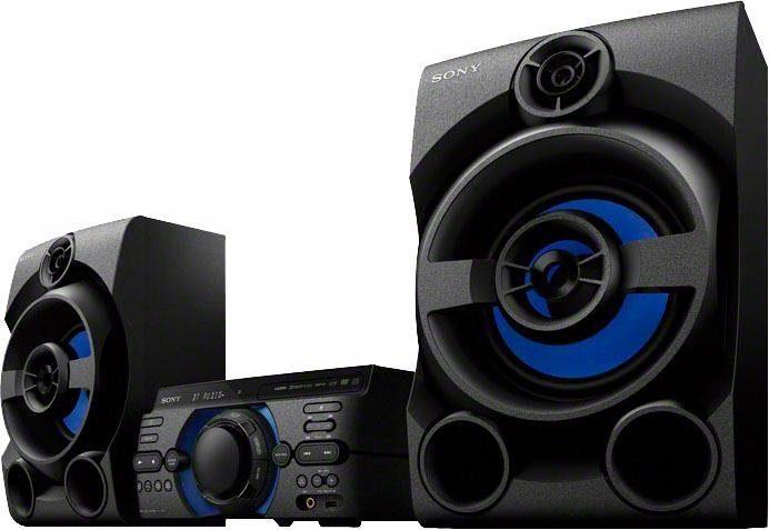Sony MHC-M20D High Power 3-Komponenten-Musiksystem (Verbindung über Bluetooth, USB, CD/DVD & HDMI)