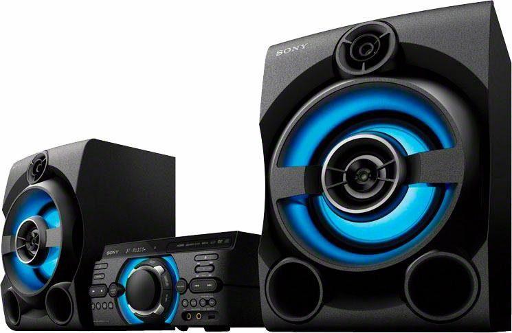 Sony MHC-M60D High Power 3-Komponenten-Musiksystem (Verbindung über Bluetooth, USB, CD/DVD & HDMI)