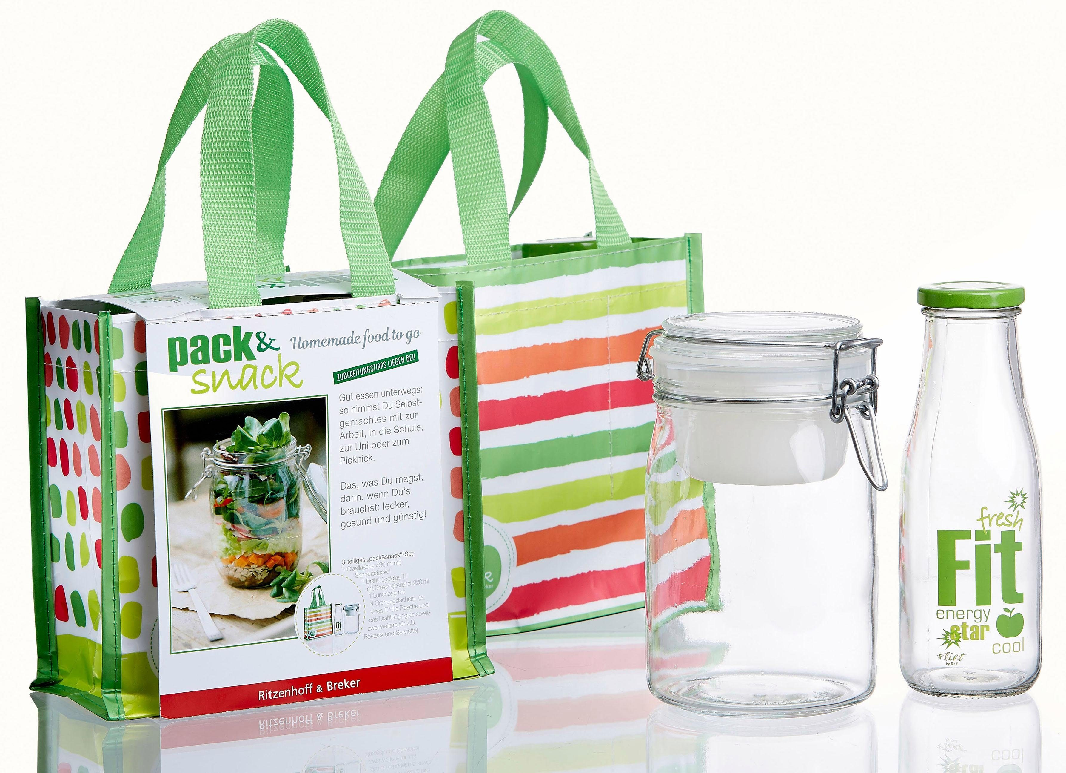 Flirt by R&B SET »Pack & Snack«, incl. Lunch-Bag (3-teilig)