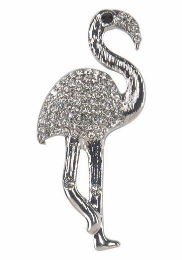 J.Jayz Brosche »in Flamingo Form« (1-tlg), mit Strasssteinen