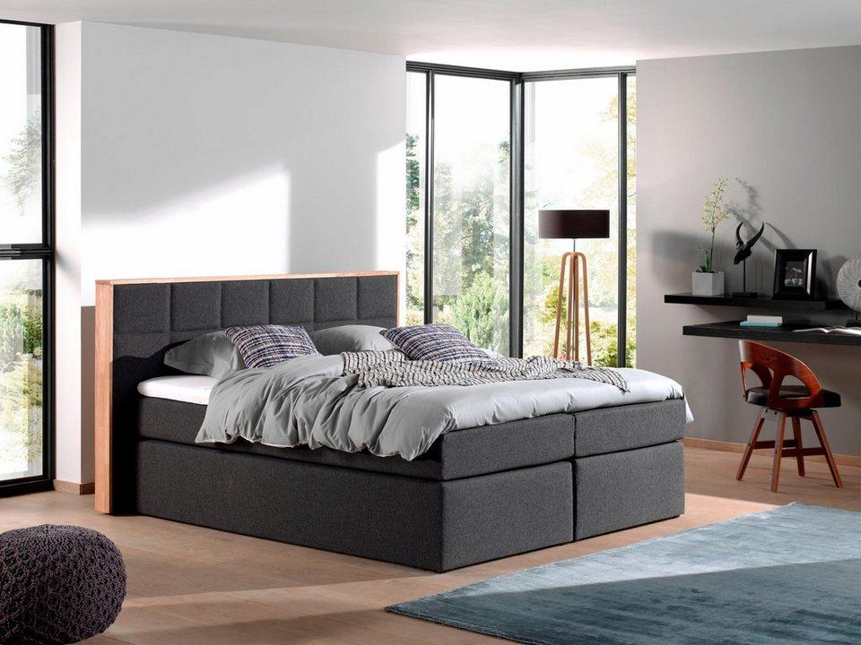 home affaire boxspringbett benita eichenrahmen otto. Black Bedroom Furniture Sets. Home Design Ideas