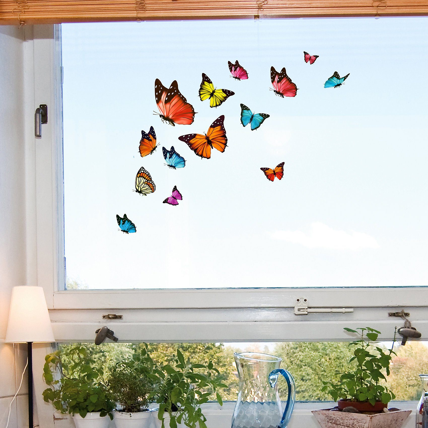 Fenstersticker Schmetterlinge, 16-tlg.