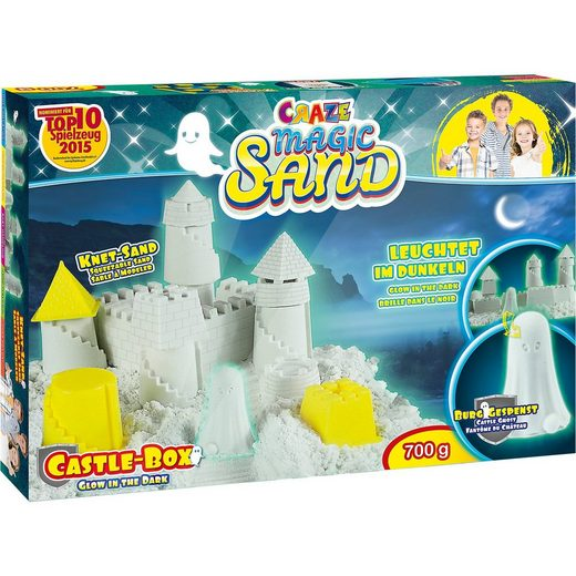 CRAZE Magic Sand Castle Box - Glow in the Dark
