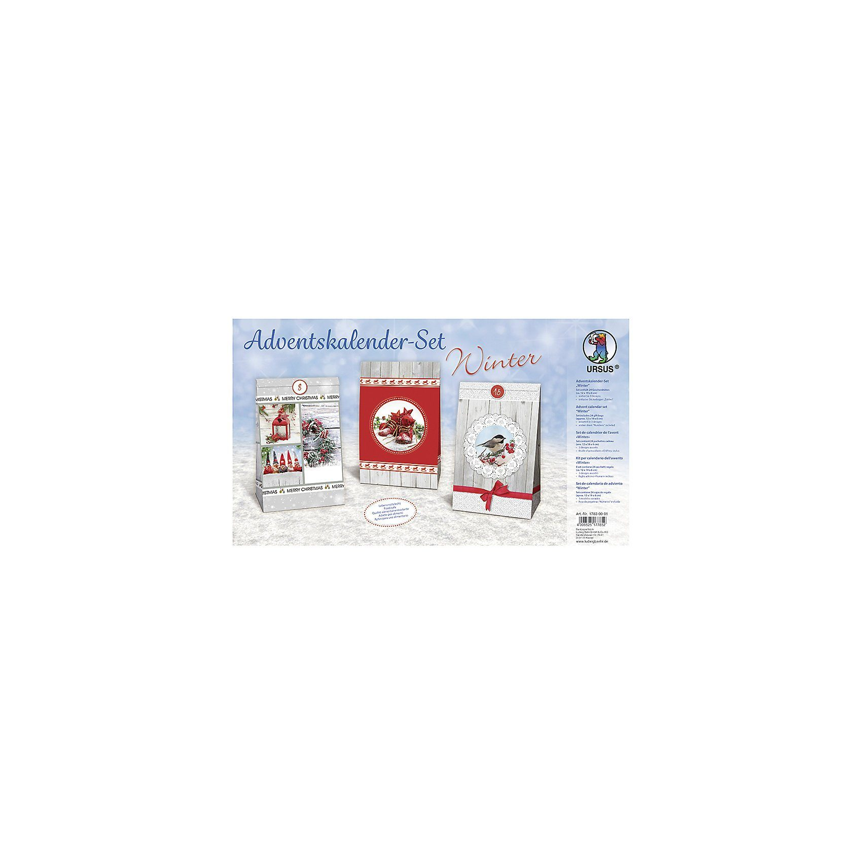 URSUS Kreativset Adventskalender-Set Winter