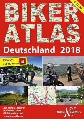 Broschiertes Buch »Biker Atlas Deutschland 2018«