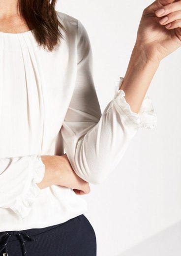 COMMA 3/4-Arm Shirt im raffinierten Materialmix