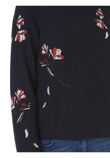 Betty&Co Sweatshirt mit Blumenstickerei