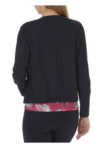 Betty&Co Sweat Jacke mit Verschluss