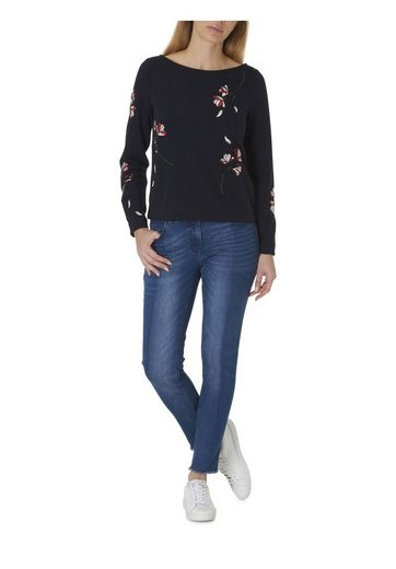 Betty&Co Sweatshirt mit Blumenstickerei