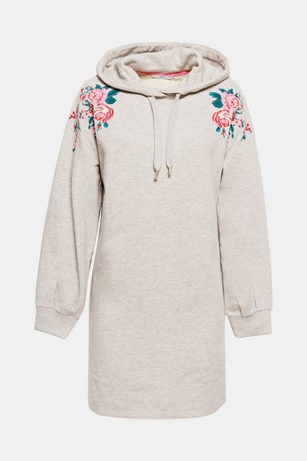 EDC BY ESPRIT Sweat-Kleid mit Blumen-Stickerei