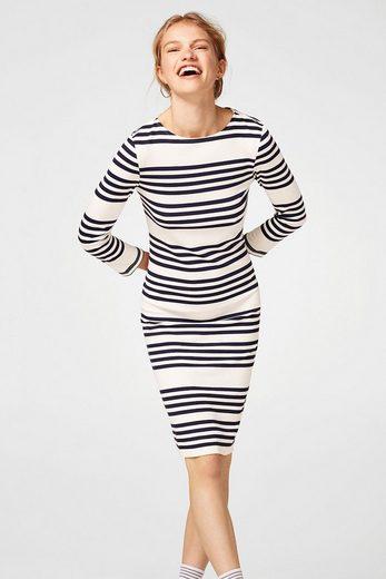 EDC BY ESPRIT Gestreiftes Kleid aus Stretch-Jersey