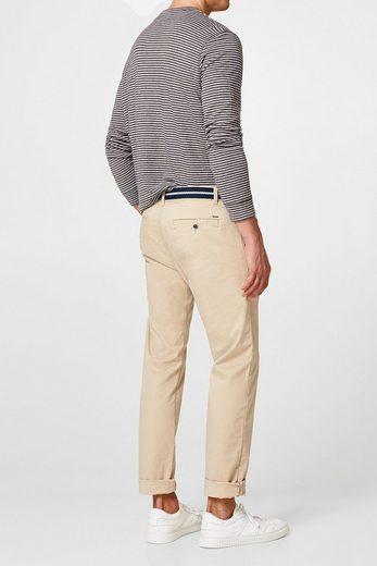 ESPRIT Chino aus Baumwoll-Stretch, mit Gürtel