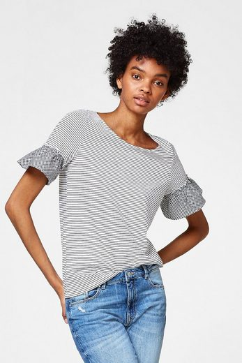 Esprit Compact Material-shirt + Pattern-mix