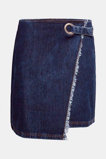 ESPRIT Jeans-Rock im Wickel-Look