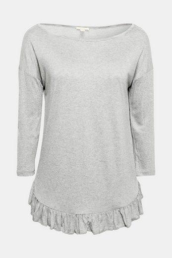 ESPRIT Anschmiegsames Shirt mit Rüschensaum