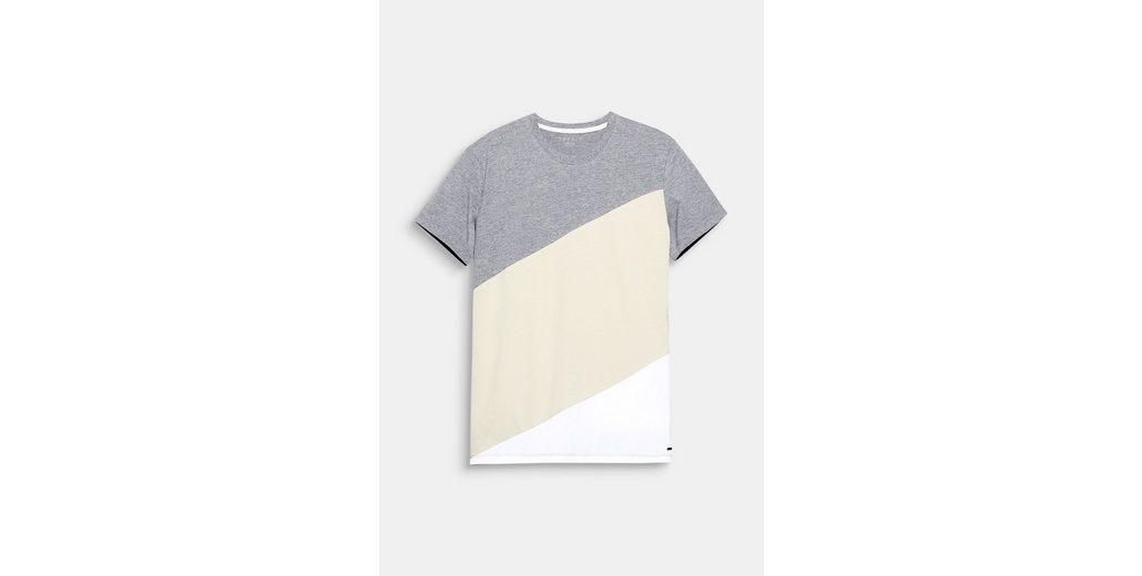 ESPRIT Colorblock-Shirt aus Jersey Preiswert Niedrigsten Preis Online Rabatte hLlHS