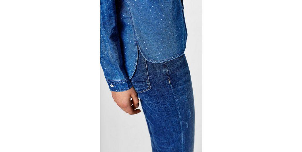 EDC BY ESPRIT Jeans-Bluse mit feinen Webtupfen Verkauf Hochwertige 09emLtpb