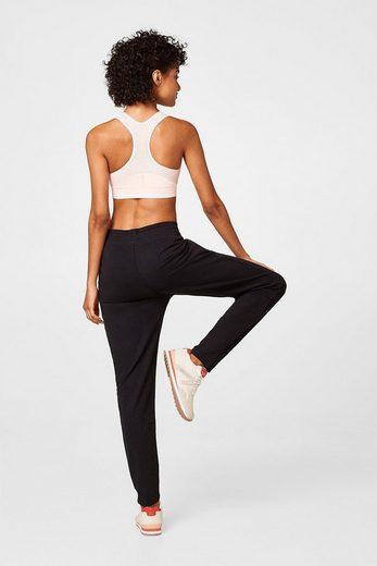 ESPRIT Sweat-Pants mit gummierten Details