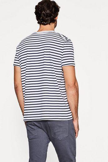 ESPRIT Gestreiftes Jersey-Shirt mit Organic Cotton