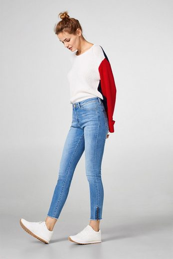 Edc By Esprit Shortened Shaping Jeans With Zippers