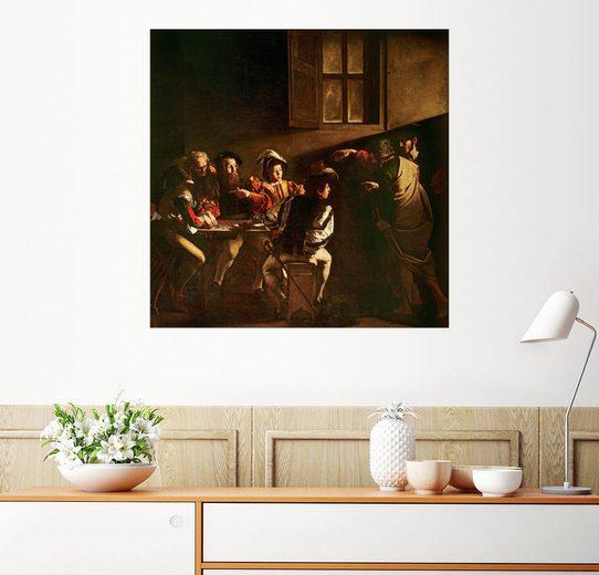 Posterlounge Wandbild - Michelangelo Merisi (Caravaggio) »Die Berufung des Matthäus«