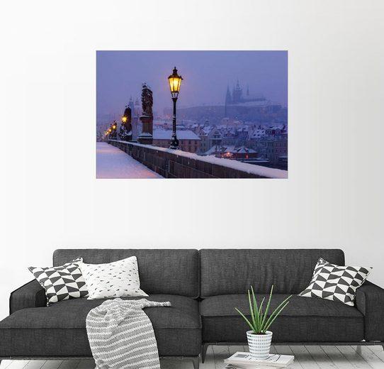 Posterlounge Wandbild »Karlsbrücke an einem Wintermorgen«