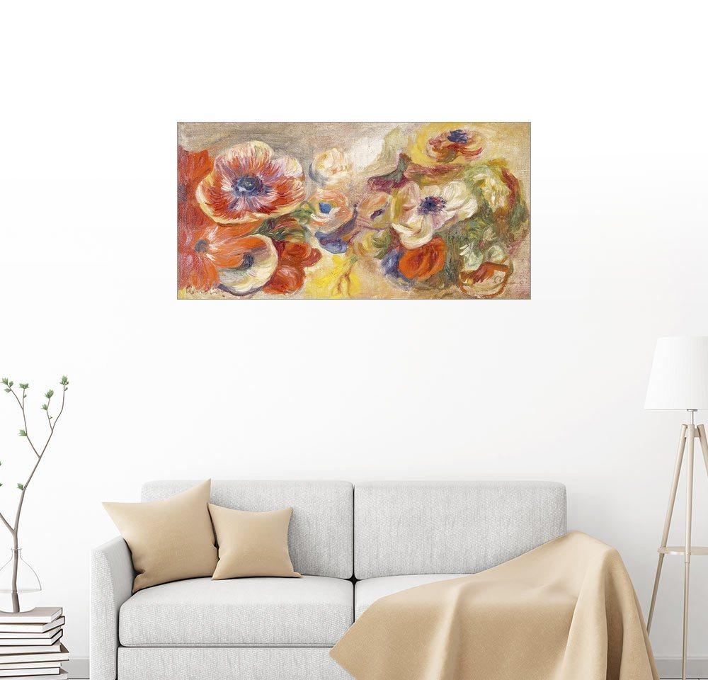 Posterlounge Wandbild - Pierre-Auguste Renoir »Anemonen« | Dekoration > Bilder und Rahmen > Bilder | Holz | Posterlounge